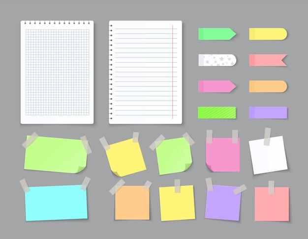 Бумага для записей с липкой лентой