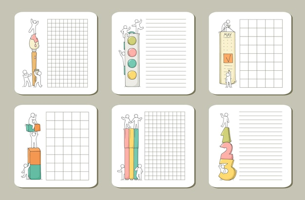 Notes for cards, stickers, tags with people.