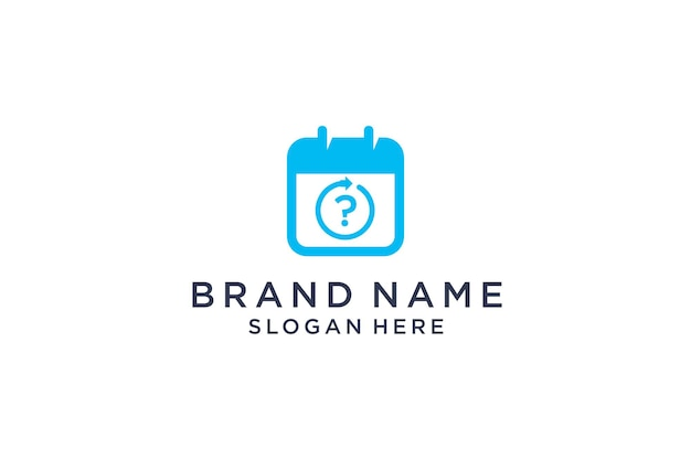 Notes logo design in question mark