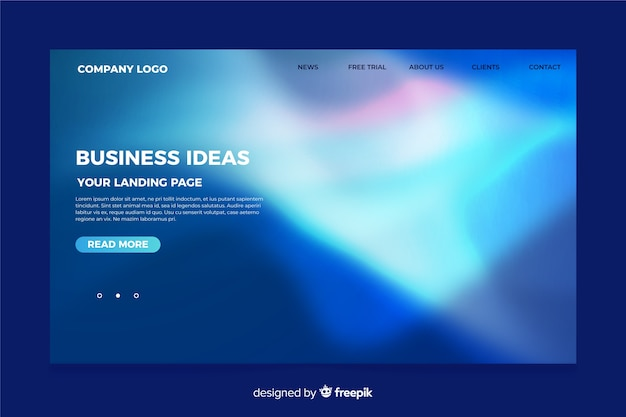 Nothern lights landing page template