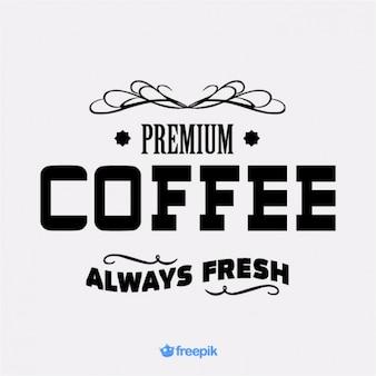 通知またはバナープレミアムコーヒー