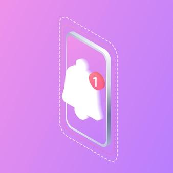 Уведомление цифровая связь уведомление в мессенджере мобильный смартфон для общения в чате