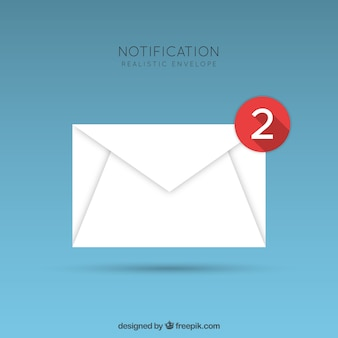 Notification realistic envelope