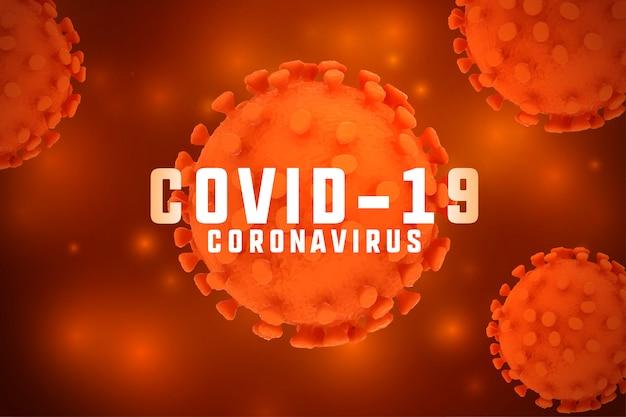 Novel corona virus covid19 outbreak background poster