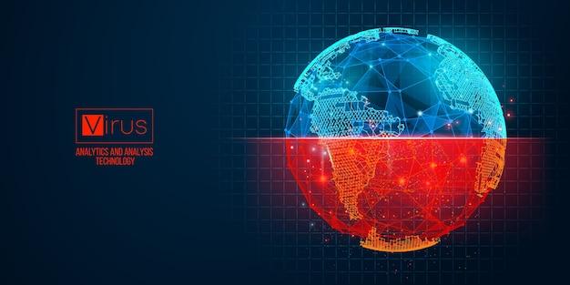 Новый коронавирус, эпидемия по странам на синем фоне. мир.
