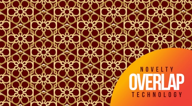 Novelty overlap technology pattern background
