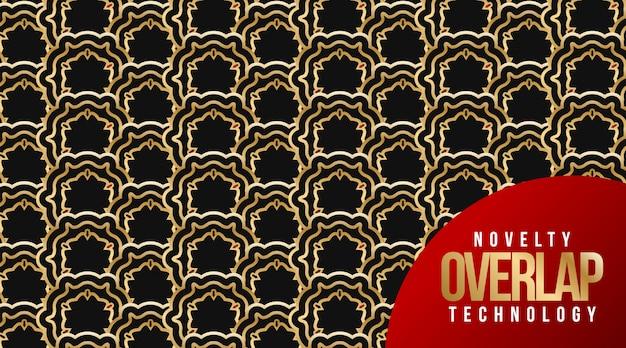Novelty overlap technology seamless pattern background