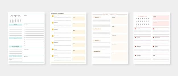 November 2021  planner modern planner template set set of planner and to do list