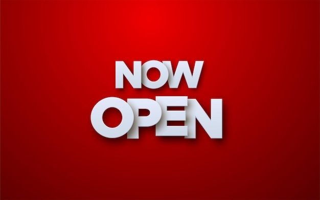 Now open white paper sign on red background