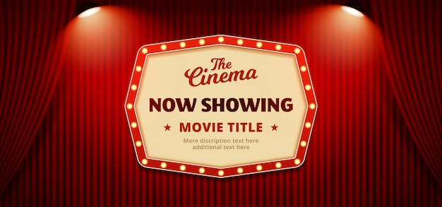 Now showing movie cinema poster banner background