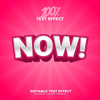 Now text effect