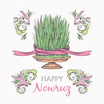 Nowruz with greeting