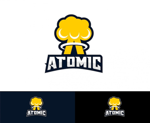 Nuclear atom bomb logo