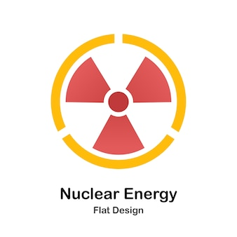 Nuclear energy flat illustration