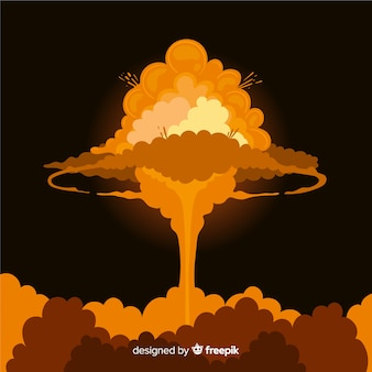 Ядерный взрыв эффект мультяшном стиле