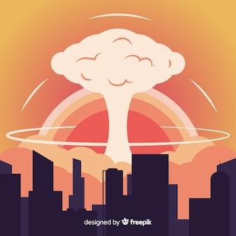 核爆発効果フラットデザイン