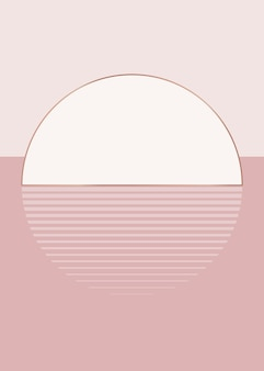 Nude pink sunset background vector aesthetic