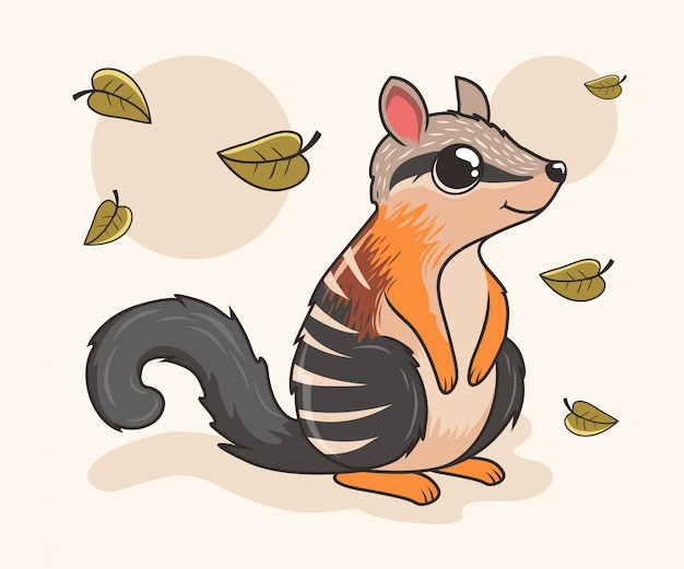 Numbat cartoon cute animals
