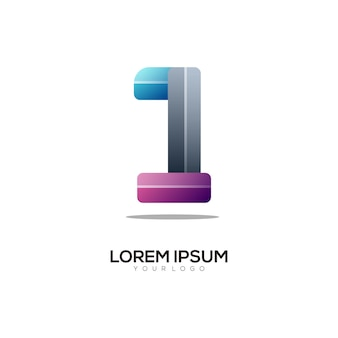 Number 1 logo colorful gradient