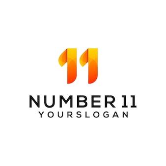 ナンバー11のカラフルなロゴデザインテンプレート