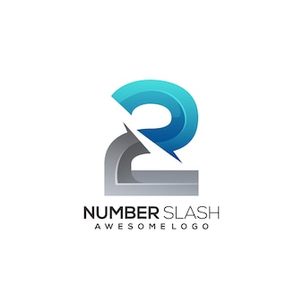 Number 2 logo colorful gradient