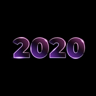 Number 2020 light effect