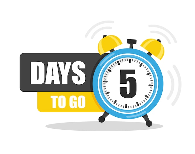 Number of 5 days to go