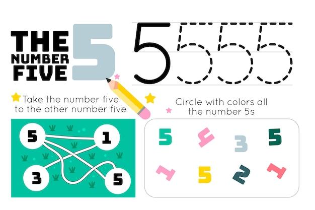Foglio di lavoro numero 5 con labirinto