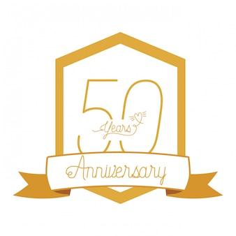 № 50 для эмблемы или эмблемы празднования юбилея