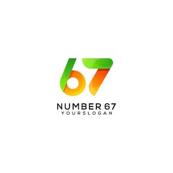 67番のカラフルなロゴデザインテンプレート