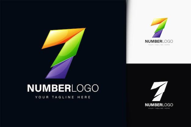 Number 7 logo design with gradient