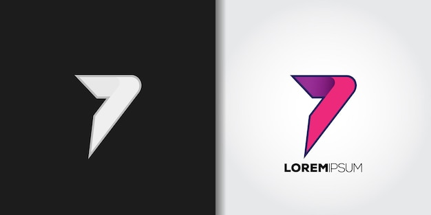 Number 7 logo template