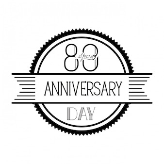 Number 80 for anniversary celebration emblem or insignia