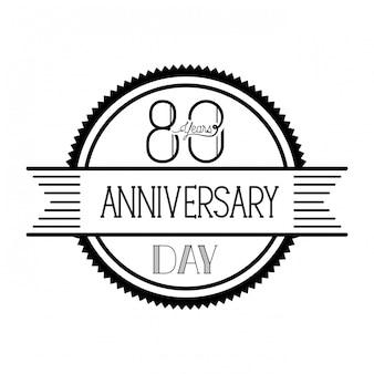№ 80 для эмблемы или эмблемы празднования юбилея