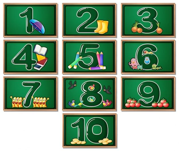 Числовые карточки