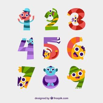재미있는 문자로 숫자 수집