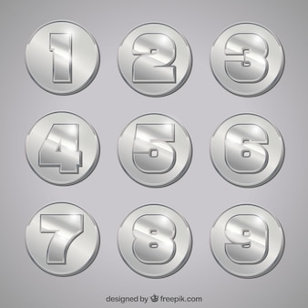 Number collection with silver style