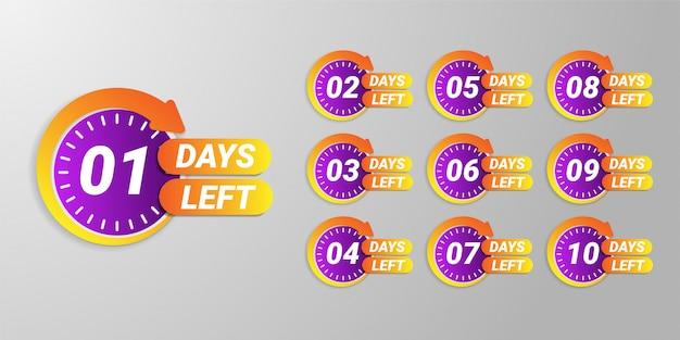 Number of days left promotion banner