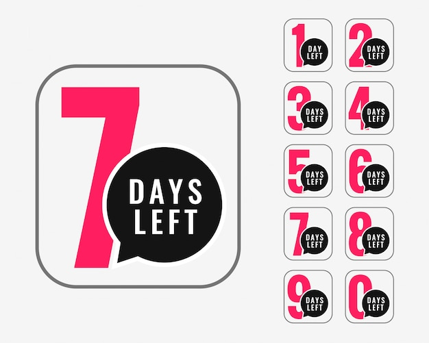 Number of days left promotional banner design