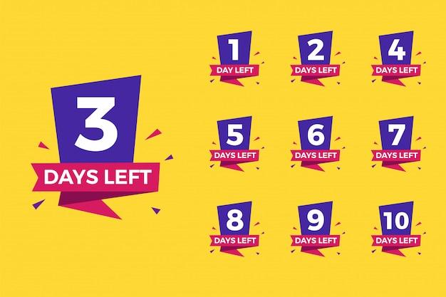 Number of days left set