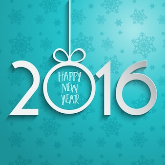 Number new year paper background