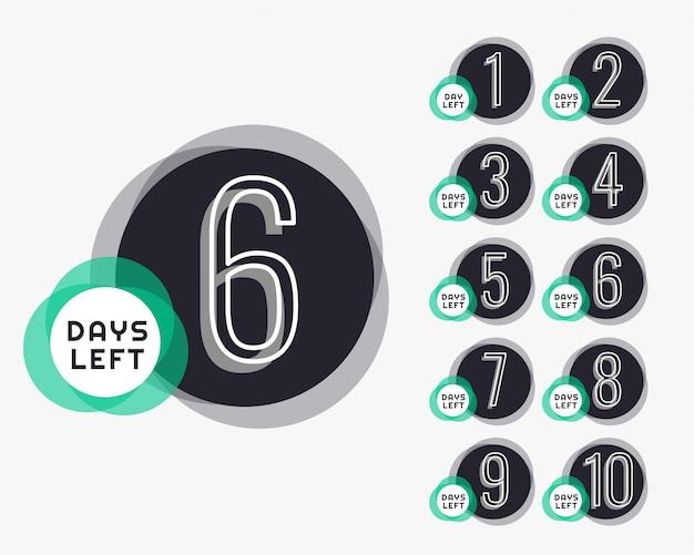 Количество дней до таймера обратного отсчета