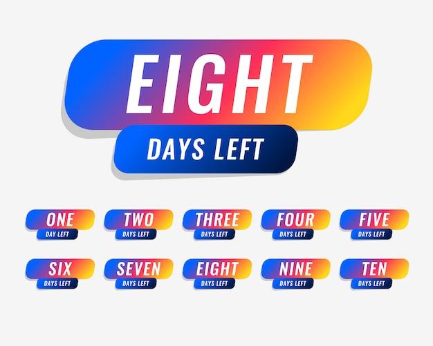 Количество дней, оставшихся до оформления рекламного баннера