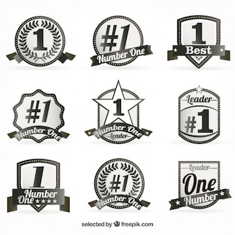 Number one badges
