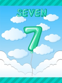 Number seven balloon template