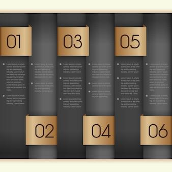 プレゼンテーション用の番号付きバナーインフォグラフィックテンプレート