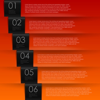 Numbered banners infographic template for presentation