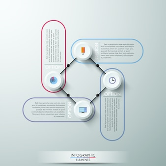 Numbered circles infographic design