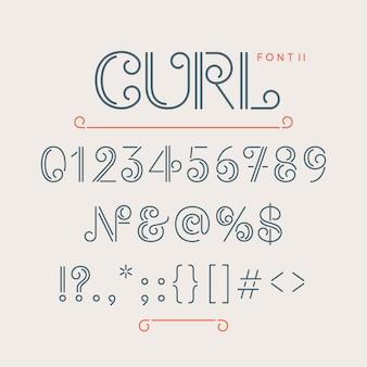 Цифры и дополнительные символы для шрифта