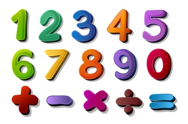 Цифры и математические символы